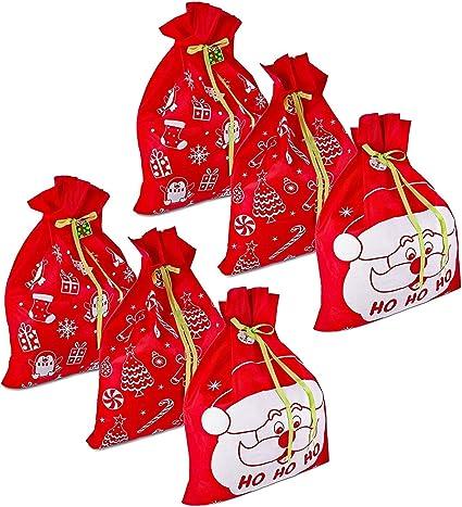 NEW 6 Giant Christmas Gift Bags 36 x 44 Set Holiday Reusable Made Durable Fabric