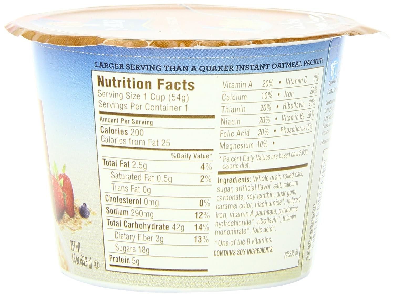 Quaker Instant Oatmeal Golden Brown Sugar 19 Ounce Jar 1 Carton 12 Pcs P Cups Pack Of 24 Breakfast Cereals