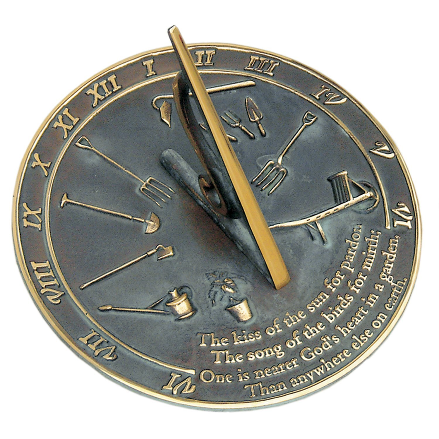 Rome RM2307 Brass Sundial ''Kiss of the Sun''