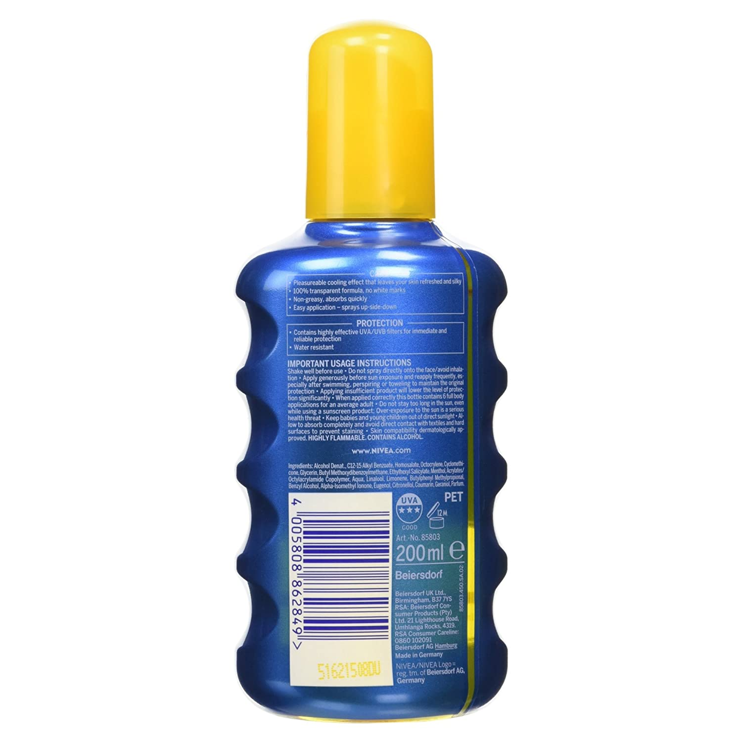 Nivea Sun SPF Protección Invisible 30 Sun Loción transparente Spray - 200ml: Amazon.es: Belleza