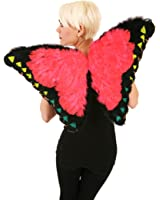 Zucker Feather (TM) - Saturn Butterfly Wings - Coral/Black