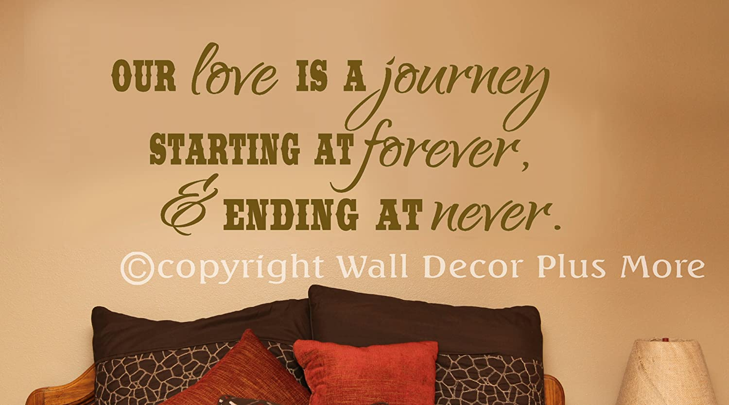 Wall Decor Plus More WDPM2892 Our Love is a Journey, Beginning at ...