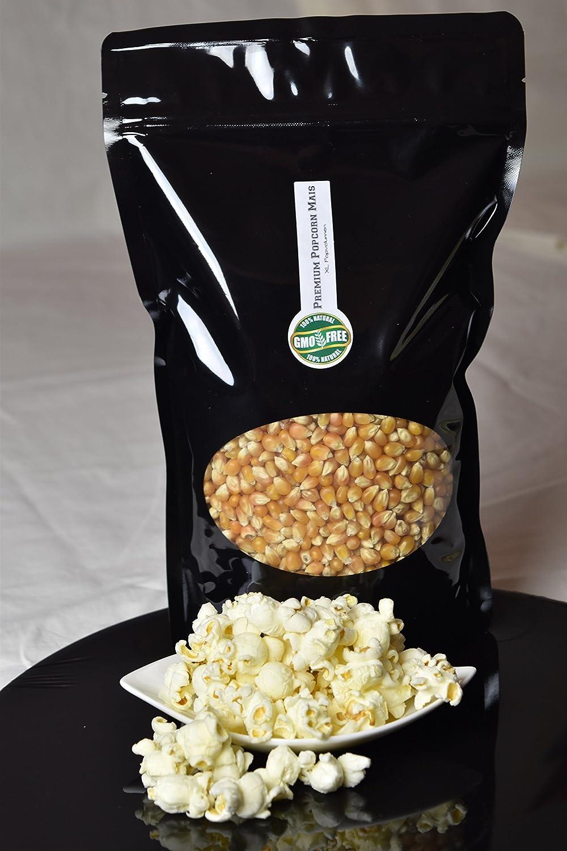Premium Butterfly Popcorn Kinopopcorn 500 g / 1 Kg bolsa fresca XL 1:46 Premium popcorn pop volumen en bolsa con cierre GMO Free (500): Amazon.es: ...
