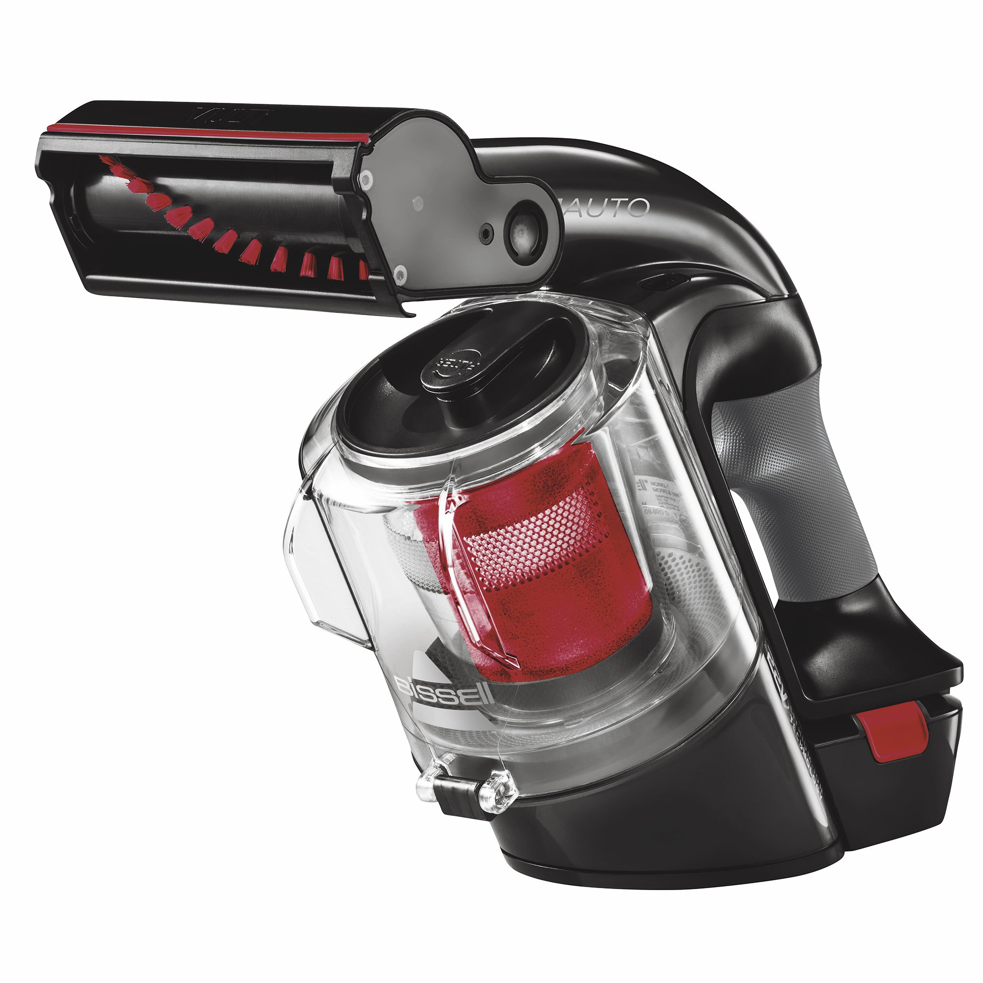 BISSELL Multi Auto Lightweight Lithium Ion Cordless Car Hand Vacuum, Red, 19851 by Bissell