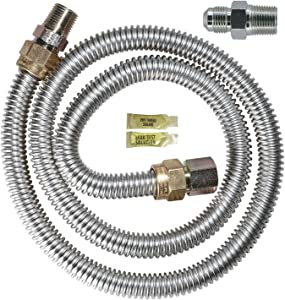 Dormont 20-3122KIT-48 Gas Dryer Installation Kit 48-Inch Length by 1/2-Inch Supply