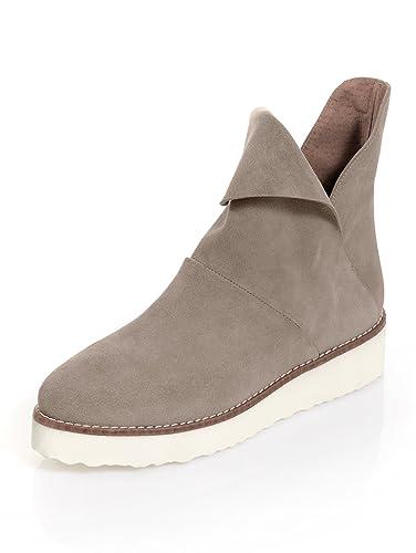 new products 1f7db 01f35 Alba Moda Damen Boot aus softem Veloursleder: Amazon.de ...