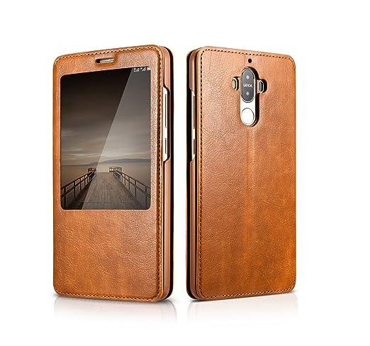 6 opinioni per Huawei Mate 9 il caso di vibrazione, DEMEDO (Cavaliere Series) di cuoio del