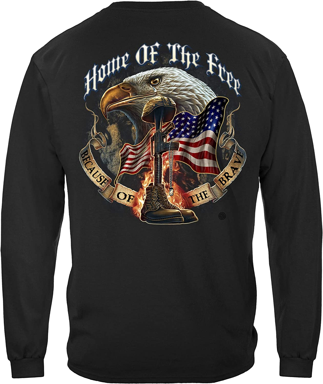 Erazor Bits Home of The Free Long Sleeve T Shirt MM141LS