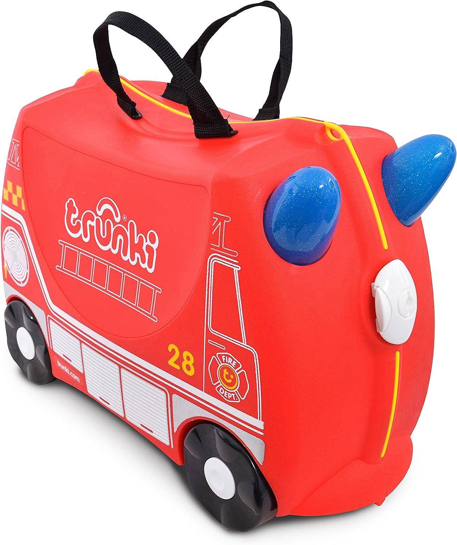 Trunki Maleta correpasillos y equipaje de mano infantil: Camión de bomberos Frank (Rojo)