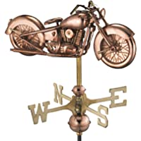 Good Directions 8846PG Motorcycle Garden Weathervane, Polished Copper with Garden Pole