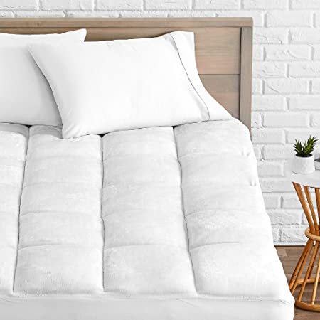Bare Home Pillow Top Queen Mattress Pad   Premium Goose Down Alternative   Overfilled Microplush Reversible Top   Super Soft Hypoallergenic Mattress Topper (Queen) by Bare Home