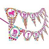 Carousel Carnival Birthday Banner - Multi Color