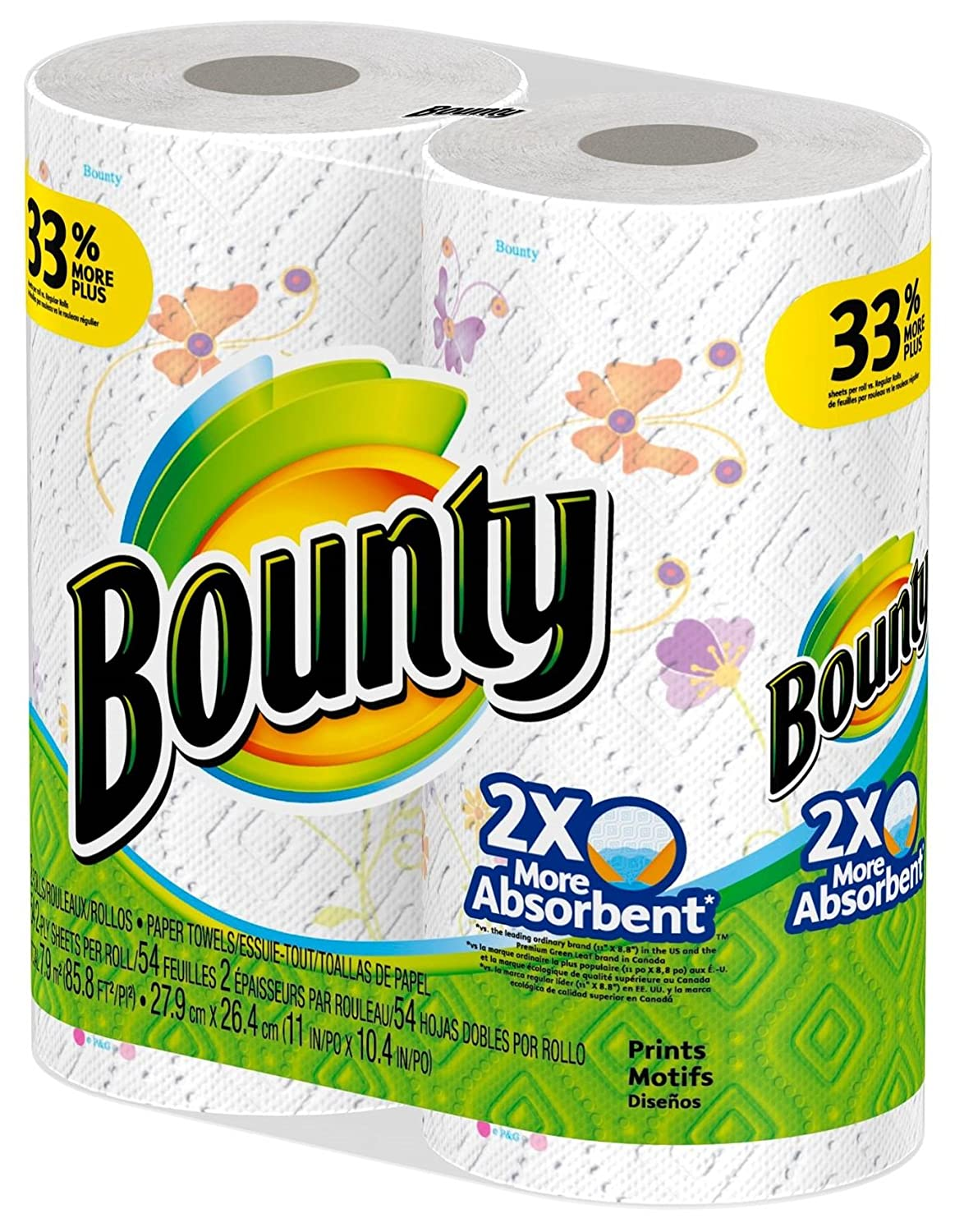 Amazon.com: Bounty Printed Paper Towels 2 Big Rolls: Health & Personal Care