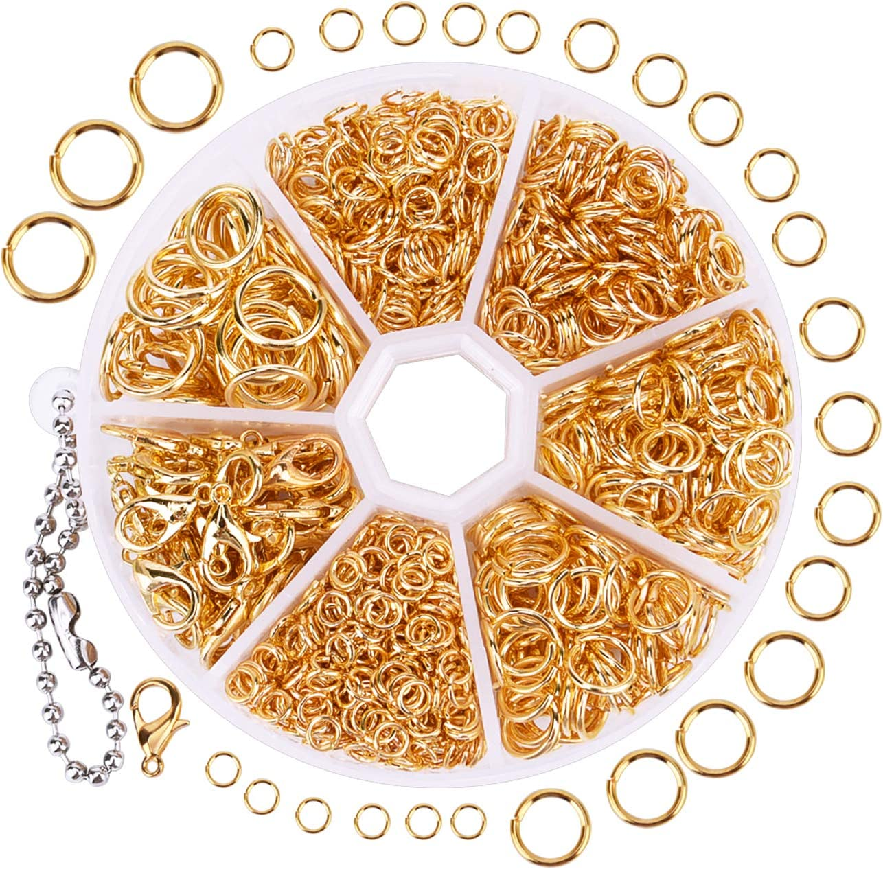 90pcs Golden Color Brass Open 6mm  Nickel Free Jump Rings For Jewelry DIY Making