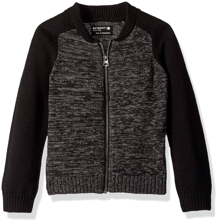 Retrofit Sportswear Boys Toddler (2t-4t) Full Zip Cardigan Sweater, SKR8-3041C