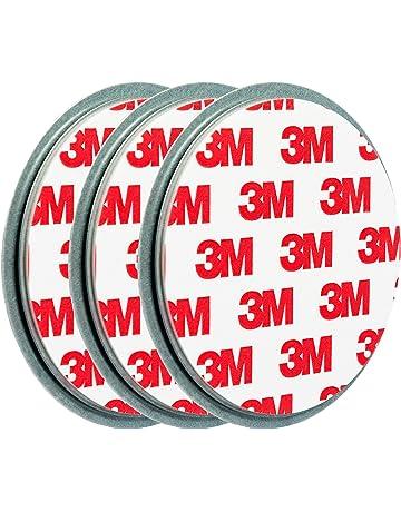 ECENCE Soporte magnético para Detector de Humo - 3 Unidades Soporte magnético Adhesivo para detectores de