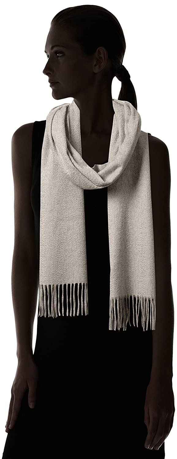 aff33cdf5 Scarves & Wraps Sofia Cashmere Womens 100% Cashmere Woven Scarf with Fringe Light  Grey One ...