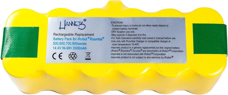 Batería Hannets® compatible con iRobot Roomba 620 I Batería i ...