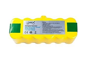 Batería Hannets® compatible con iRobot Roomba 620 I Batería i-Robot Batería Roomba Batería