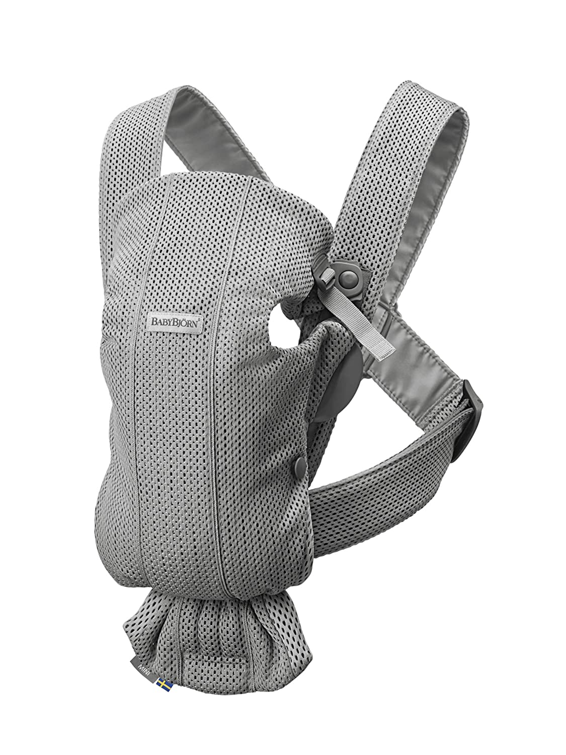 BABYBJÖRN Baby Carrier Mini, 3D Mesh, Gray