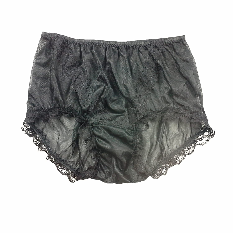 outlet store beautiful design los angeles SSH08D03 Black Handmade Style Vintage Knickers Women Panties Hipster Nylon  Underwear Men Briefs
