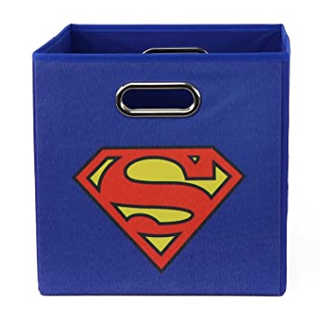 Superman SUPSTOR301 Logo Folding Storage Bin Blue