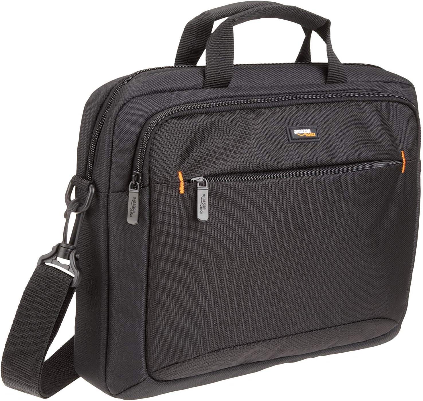 AmazonBasics - Funda para llevar del hombro ordenador portátil de 14 pulgadas (35,6 cm) e iPad, negro, 1 unidad