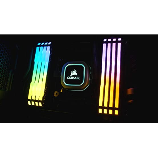 Corsair Vengeance RGB PRO 16GB (2x8GB) DDR4 2666MHz C16 LED Desktop Memory, Black 81tDUAOFTbS. SS555