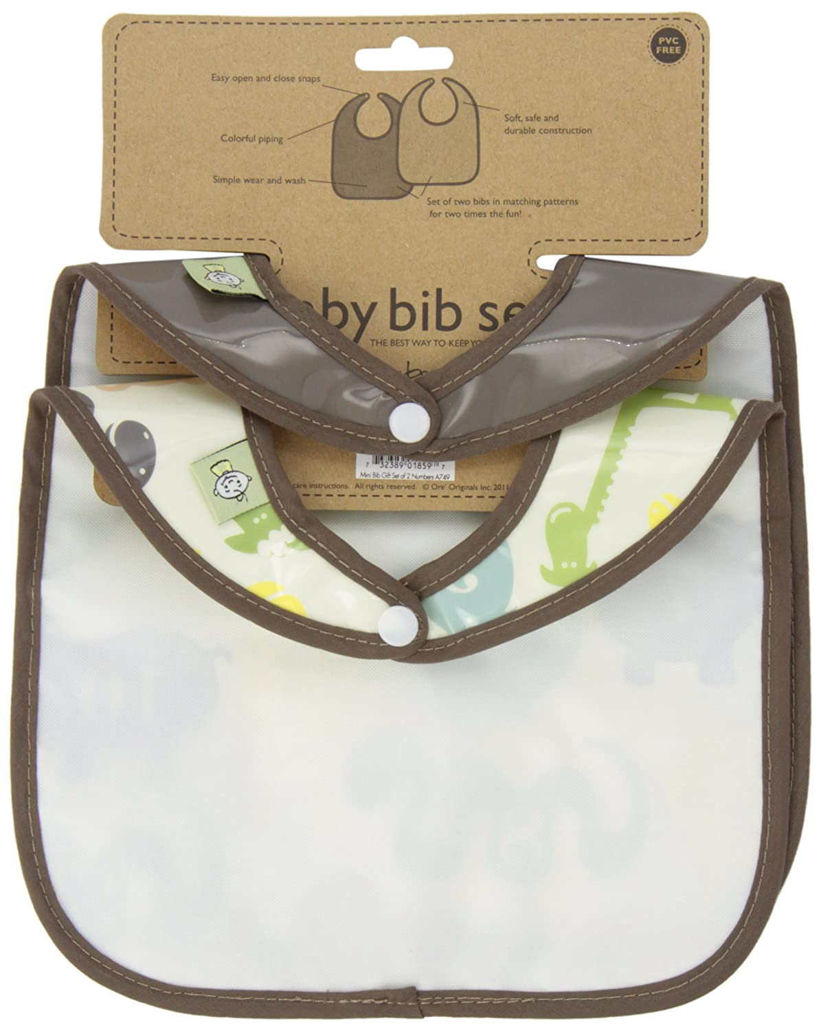 Sugarbooger Mini Bib Gift Set Retro Robot 2 Count Baby Oops Stary Back Pack Get Free Easy Click Ladybird