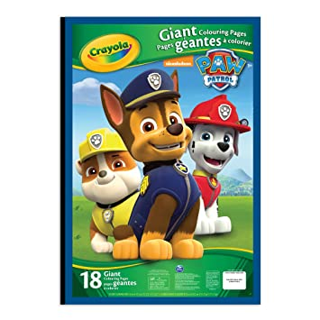 Crayola Giant Colouring Pages, Paw Patrol, Drawing & Sketch Pads ...