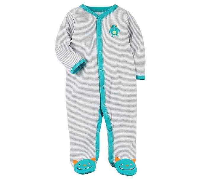 72d9917bb9e3 carter s Baby Boys  Cotton Zip-Up Sleep   Play  Amazon.in  Clothing ...