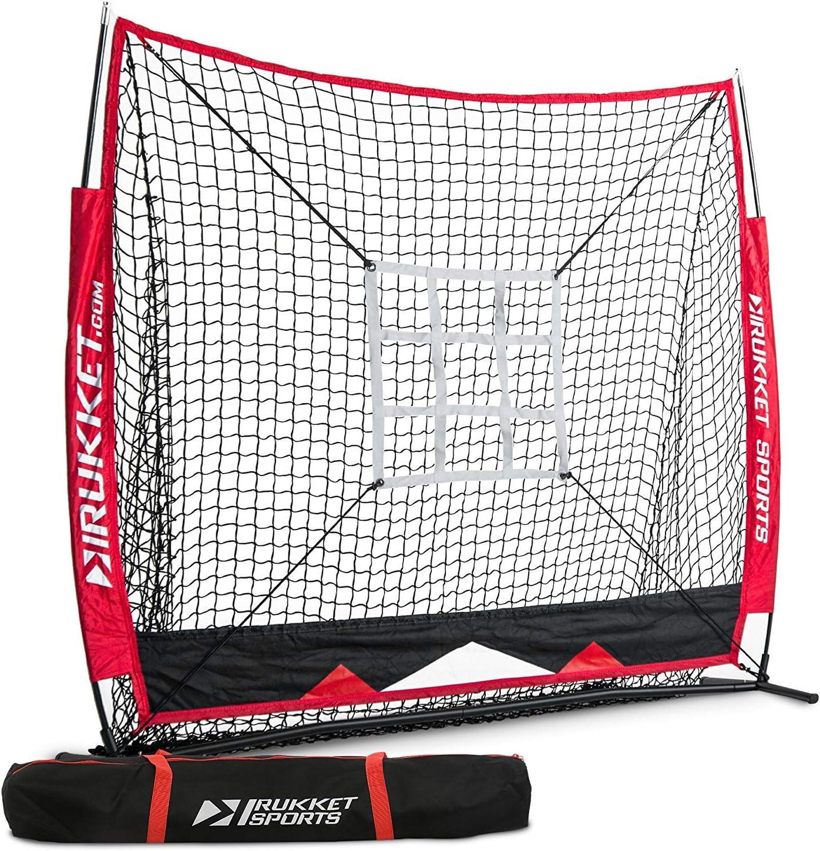 Pitching Strike Zone Target Rukket 5x5 Baseball /& Softball Net Backstop Screen Equipment Training Aids Practice Hitting Batting and Catching