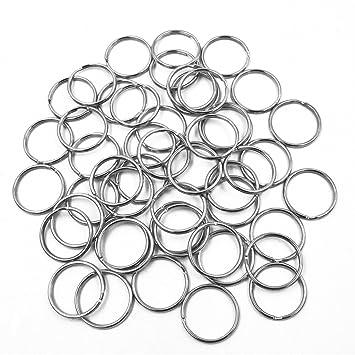 beetest-50pcs 1.18 pulgadas Diámetro clave cadena anillos ...