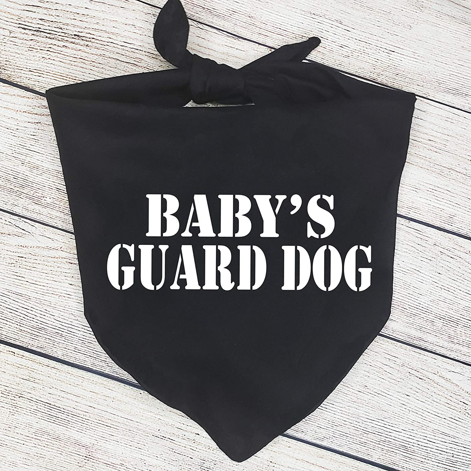 Cute Babys Guard Dog Bandana Baby Announcement Bandana Pregnancy Announcement Photos