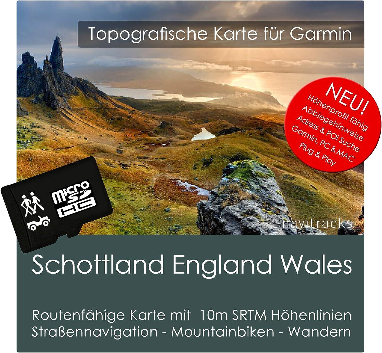 Escocia Inglaterra Gales Garmin tarjeta Topo 4 GB MicroSD. Mapa Topográfico de GPS Tiempo Libre para Bicicleta Senderismo Excursiones Senderismo Geocaching & Outdoor. Dispositivos de Navegación, PC & Mac: Amazon.es: Electrónica
