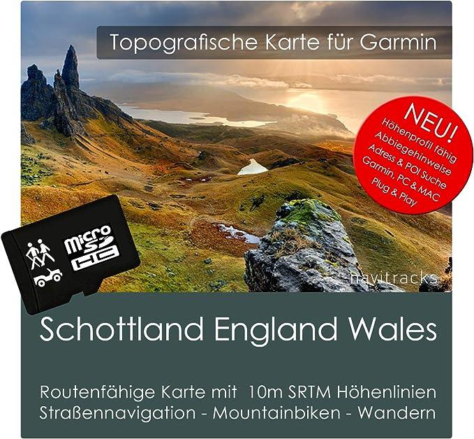 Escocia Inglaterra Gales Garmin tarjeta Topo 4 GB MicroSD. Mapa ...