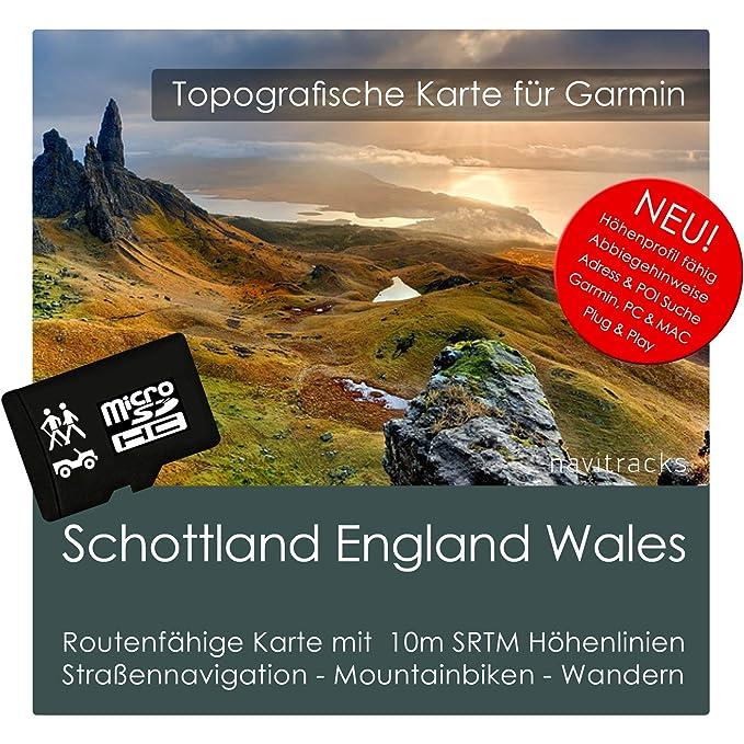 Escocia Inglaterra Gales Garmin tarjeta Topo 4 GB MicroSD ...