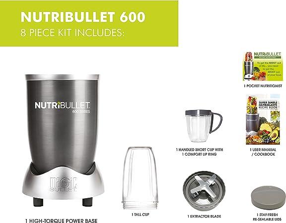 Set de 8 piezas rojas para polvo Nutribullet con bono Nutriblast ...