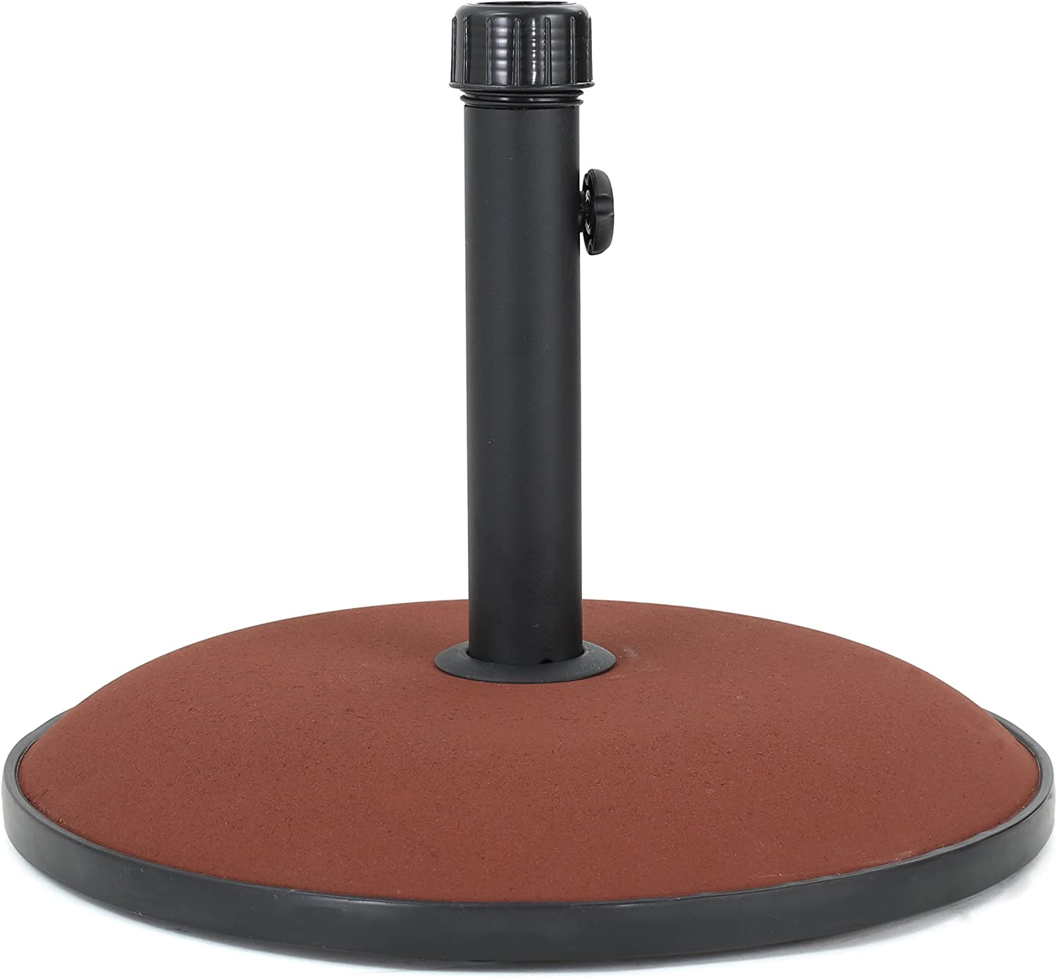 Christopher Knight Home 300407 Stoic 33lbs Concrete and Iron Umbrella Base Brownish Red