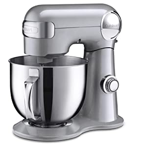 Cuisinart SM-50BC 5.5-Quart Stand Mixer, Brushed Chrome