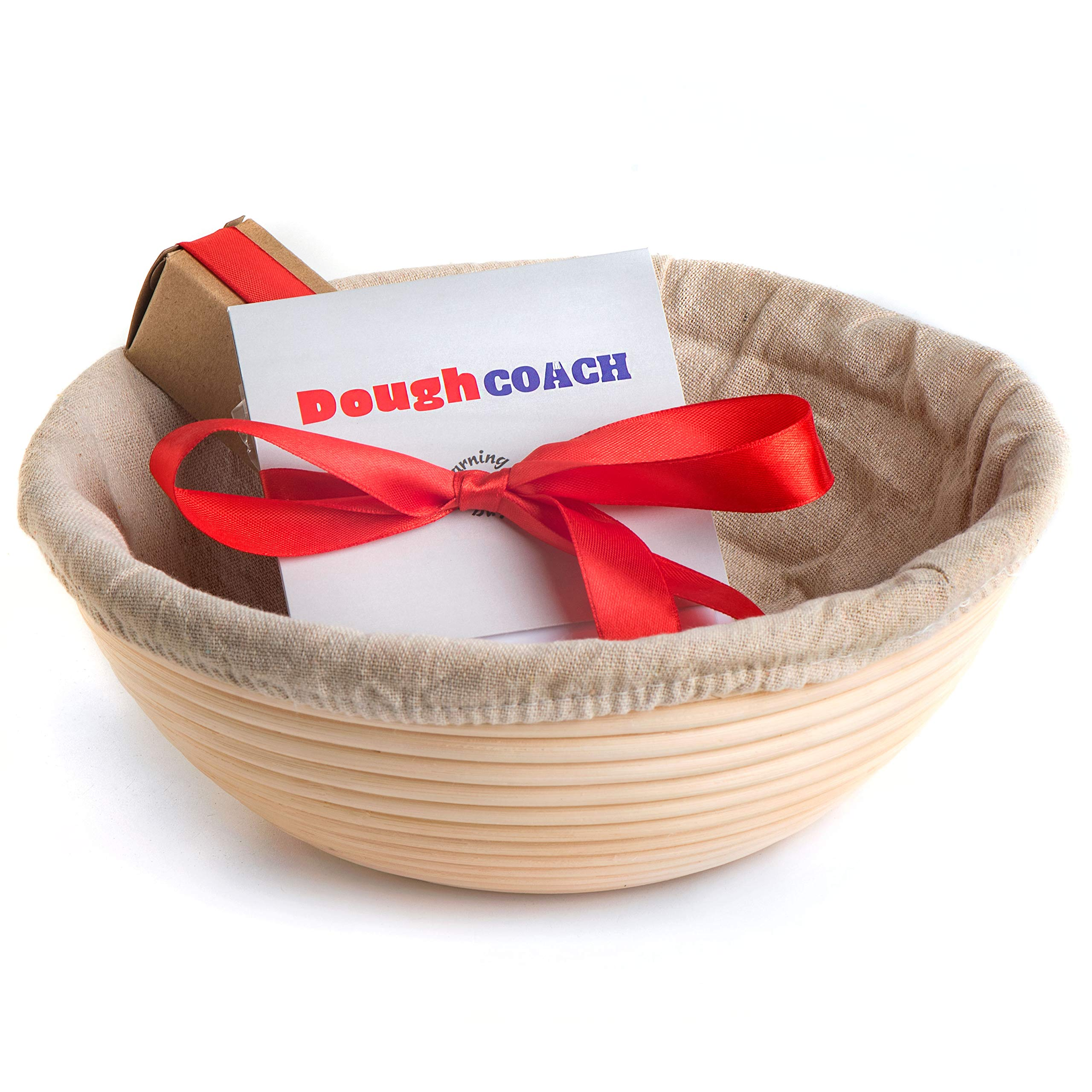 9 inch Banneton Bread Proofing Basket Baking Set Artisan Bread Sourdough Starter Kit Gift for Bakers by Dough Coach