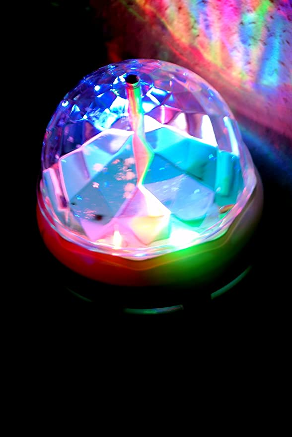 2x RGB Rotations Party Licht Lampe Leuchte Discokugel Lichteffekt Adapter LED