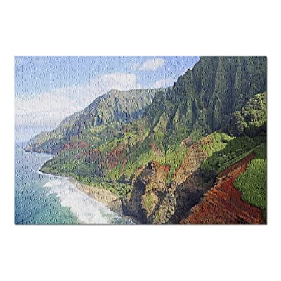 Kauai, Hawaii - LUS Na Pali Coastline 9027096 (Premium 500 Piece Jigsaw Puzzle for Adults, 13x19, Made in USA!): Toys & Games