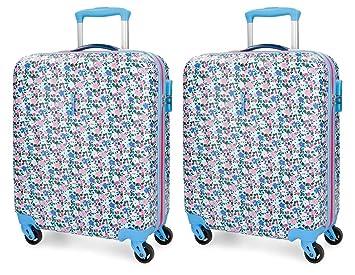 Set de maletas de cabina Roll Road Pretty Blue rígidas 55cm: Amazon.es: Equipaje