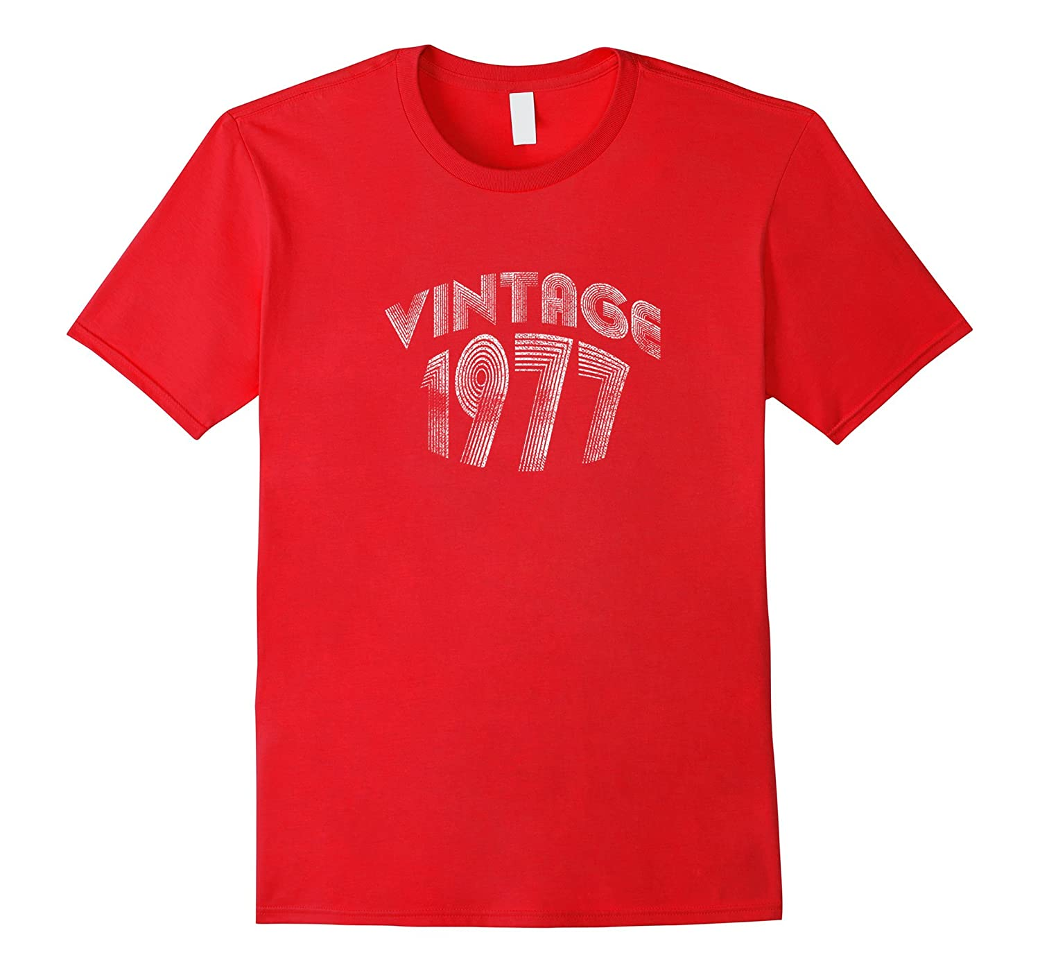 40th Birthday Shirt Vintage 1977 Retro Look Mens  Womens-CD
