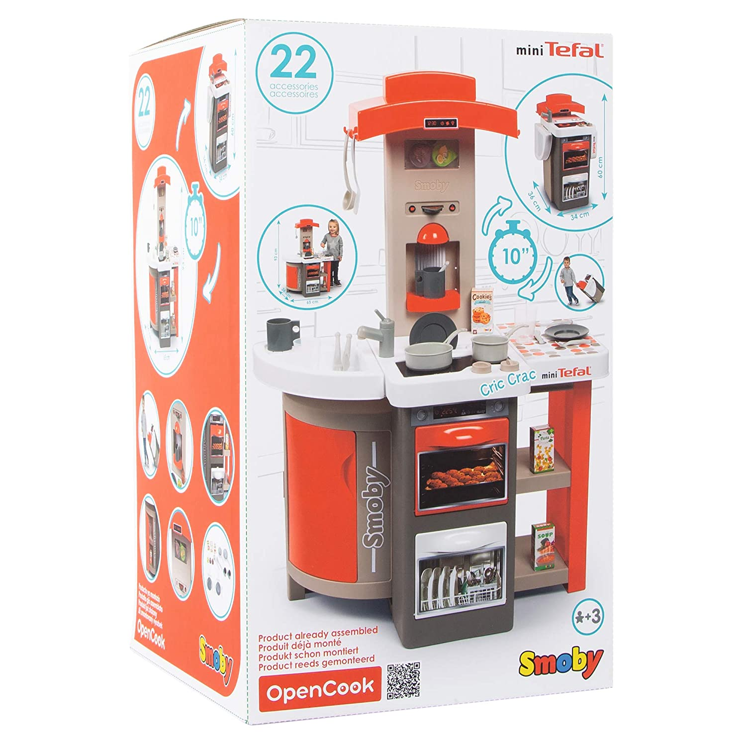 Amazon.com: Smoby-Kitchen (312200) - Juguete plegable, color ...