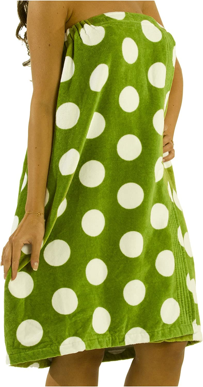 Beach One Size and SpaTowel Wrap for Women Apple Green byLora Terry Cotton Swimming Pool
