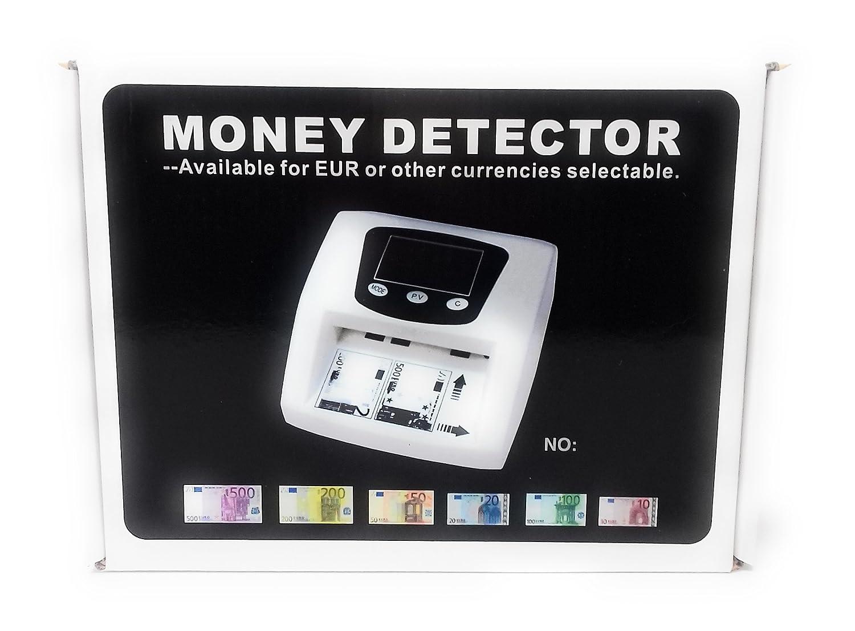 Detector Billetes Falsos Eurodetector Todo Tipo de Billetes Blanco Euros € 6800: Amazon.es: Oficina y papelería