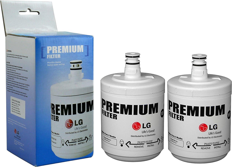 LG LT500P Vertical filtro de agua para frigorífico (, 2 unidades ...