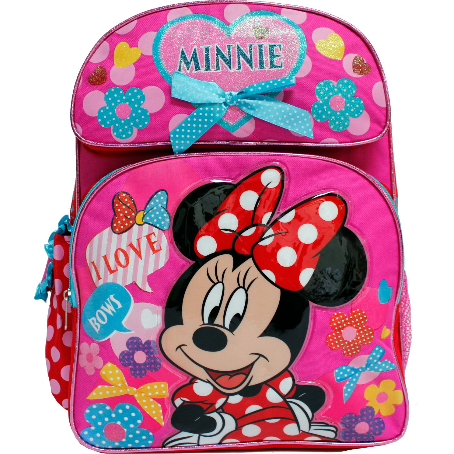 Disney Minnie Mouse Pink love Bows 16'' Backpack